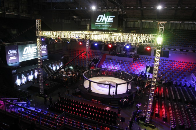 One Championship fighting ring