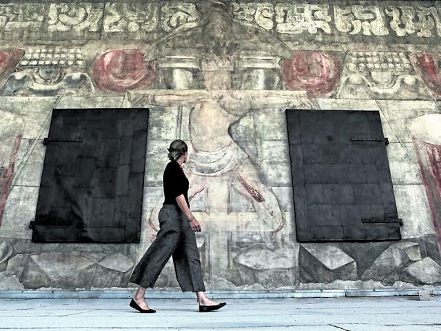 Puesta en valor recuperan un mural de siqueiros for El mural de siqueiros