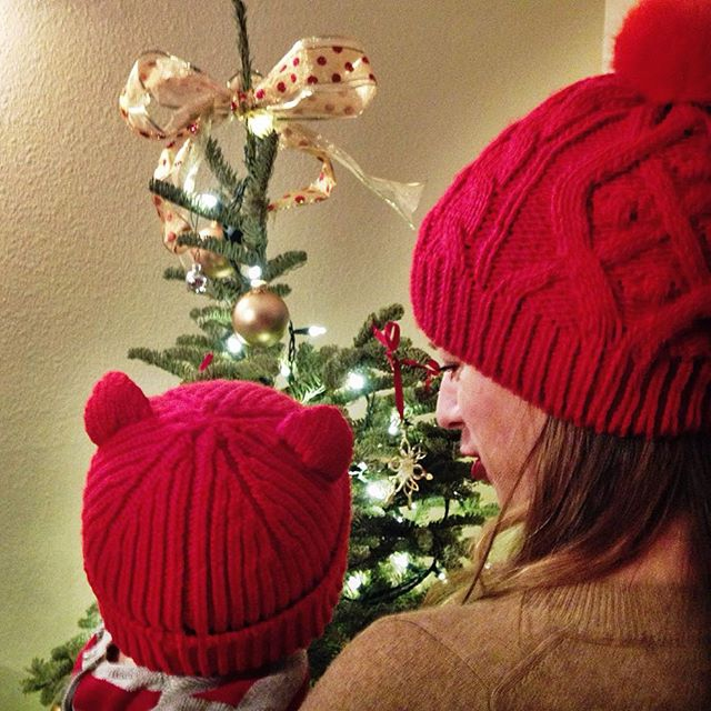 red baby beanie