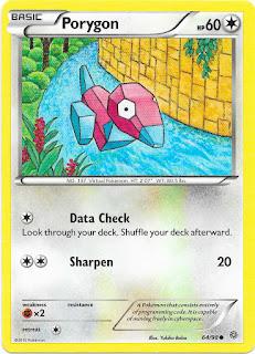 Porygon Ancient Origins Pokemon Card