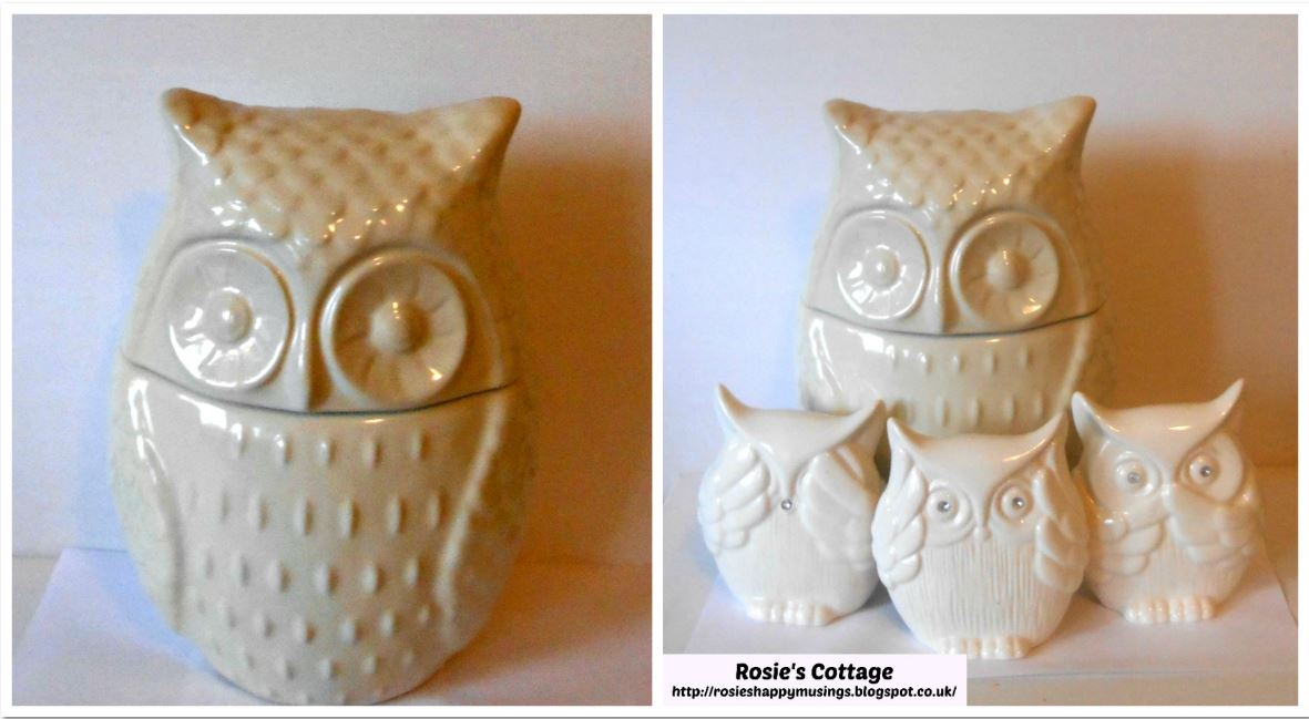 Rosie 39 s cottage friday smiles owls owls owls - Hear no evil owls ceramic ...