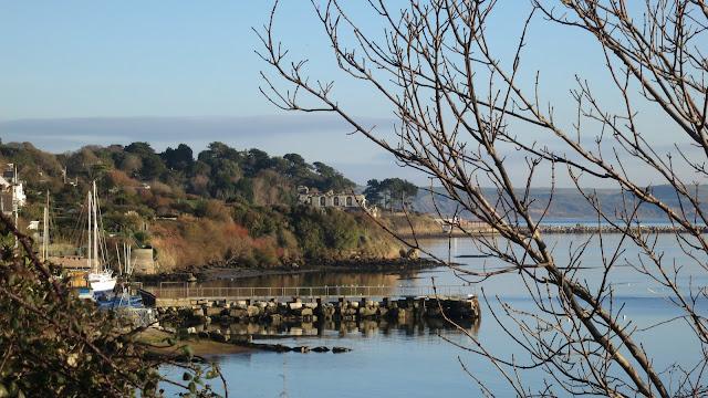 View towards Sandsfoot Castle.