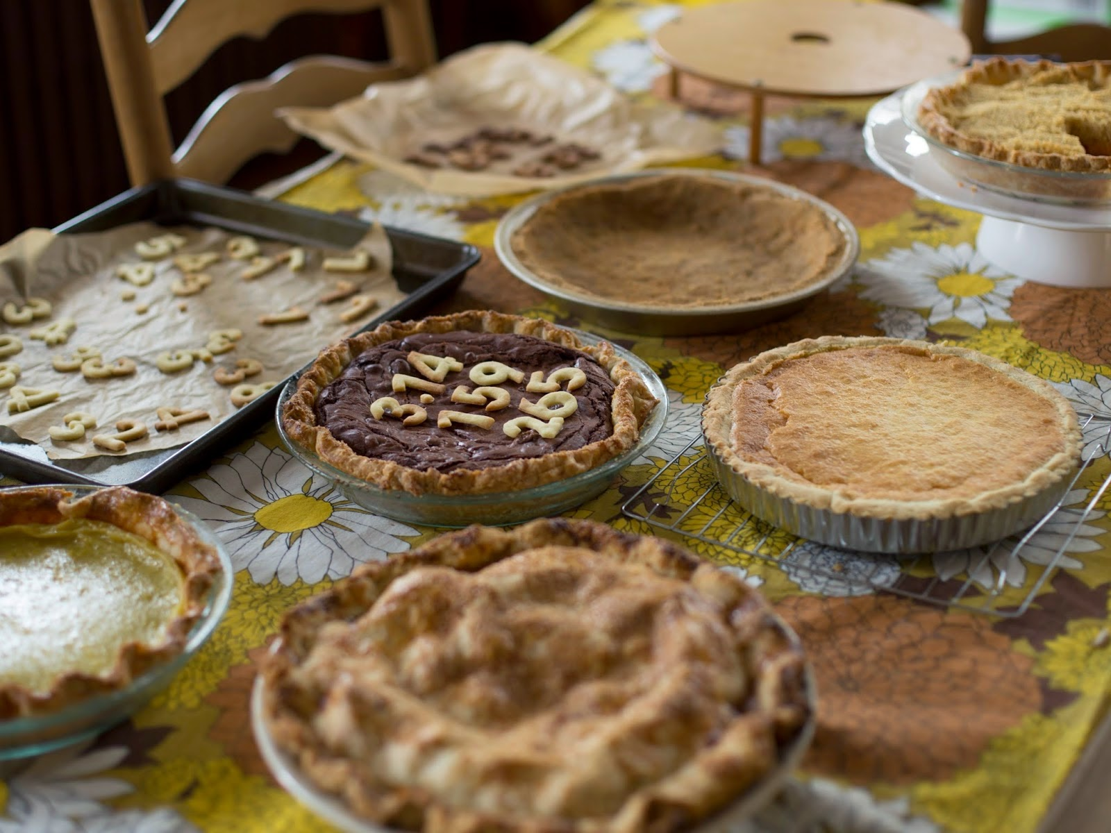 Pi(e) Day Pies on a Table