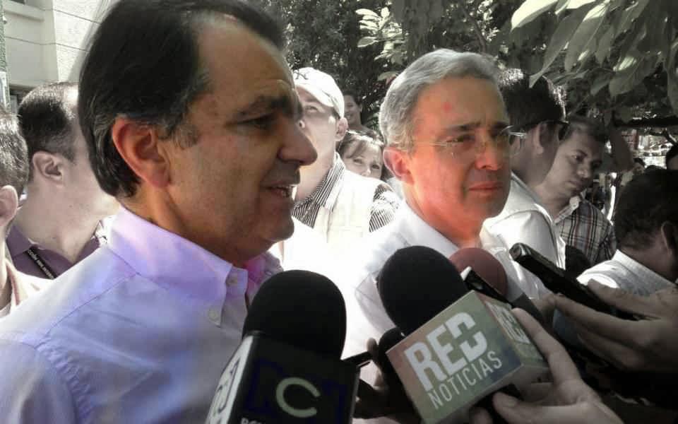 Óscar Iván Zuluaga y Álvaro Uribe Vélez
