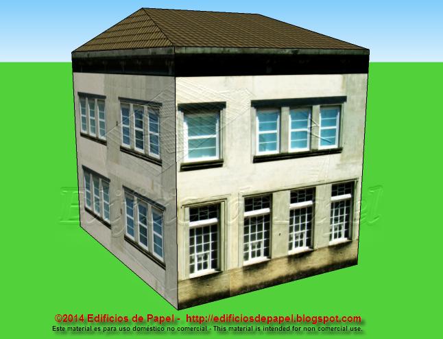 Family house paper model