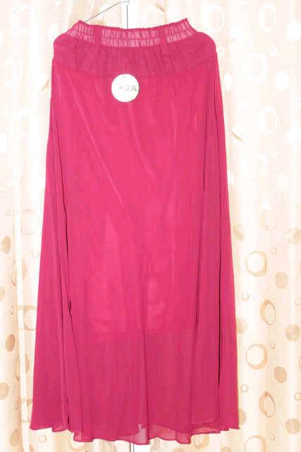 Model Rok Sifon Polos Wanita Warna Pink