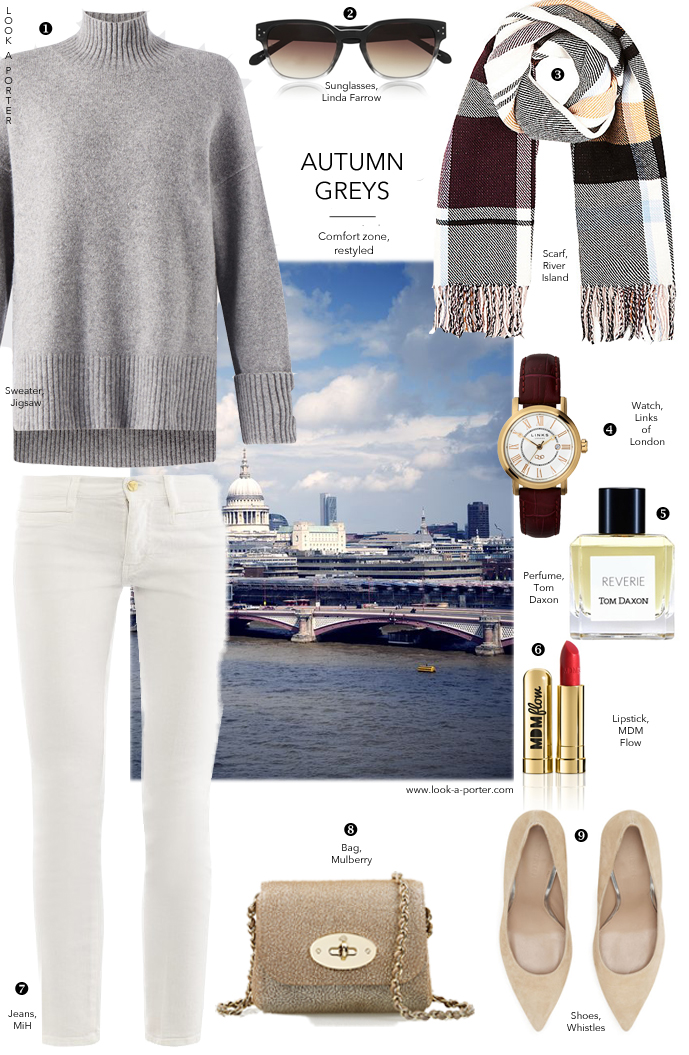 How to wear white jeans / outfit inspiration & ideas / Styling with MiH Jeans, Whistles, Jigsaw, River Island & Mulberry, outfit ideas delivered daily via www.look-a-porter.com style & fashion blog