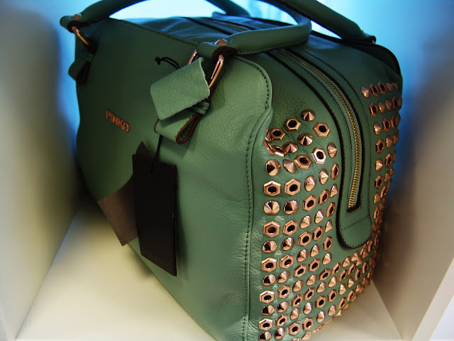 MUST-HAVE WISHLIST ITEM Nr. 2; A sage/mint studded Pinko bag, fashion, accessories, trends, spring, summer, new, wishlist, musthave, pret-a-porter, couture, art