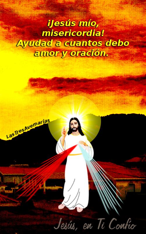 imagen de jesus misericordioso con peticion de oracion