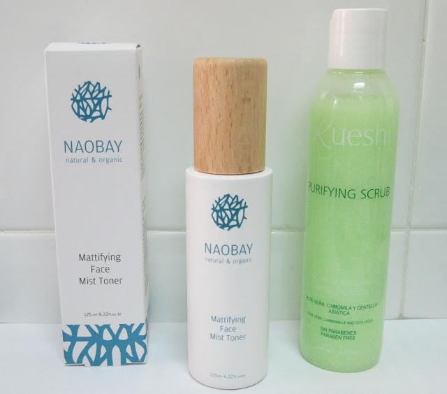 """Gel Exfoliante Facial Purificante """"Kueshi"""" y T�nico Facial Matificante """"Naobay"""" (Ecobotica)"""