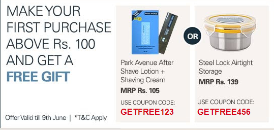 Ebay : On any purchase of Rs 100+ , Get a free gift worth Rs 100+
