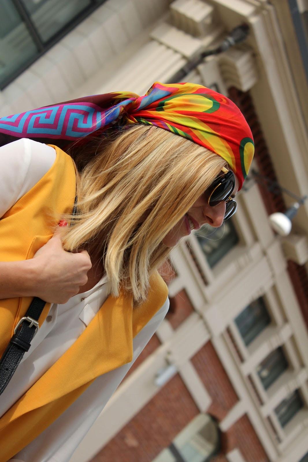 Eniwhere Fashion - Sheinside yellow coat - cappottino giallo-arancio