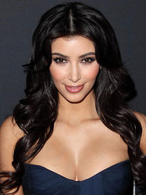 kim kardashian makeup and hair. kim kardashian without makeup.