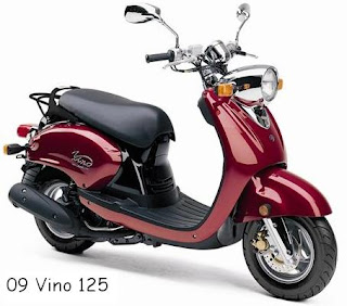 2009 Yamaha Vino 125 red color