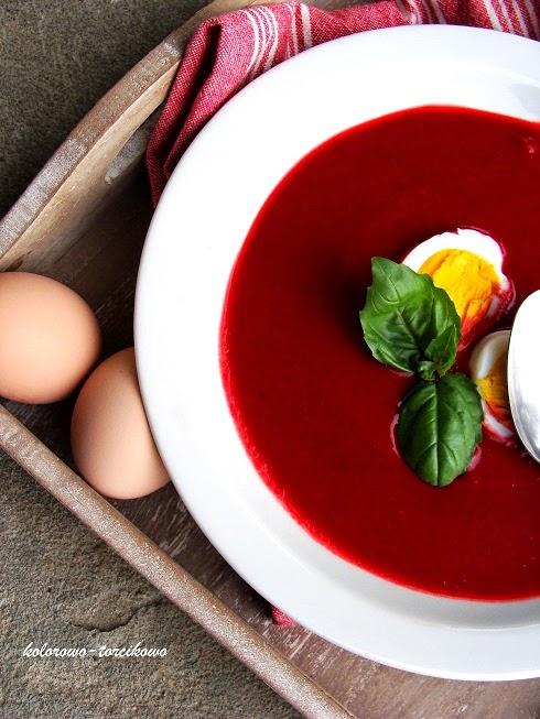 Zupa-krem z pieczonych buraczków