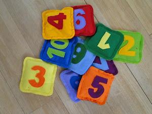 numbered beanbag tutorial
