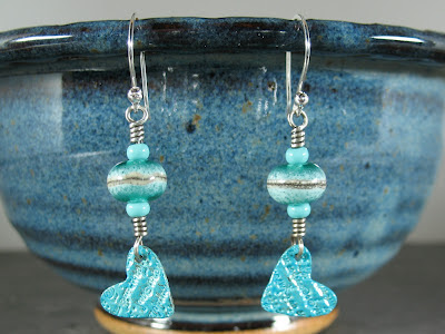 sterling & fine silver lampwork bead earrings