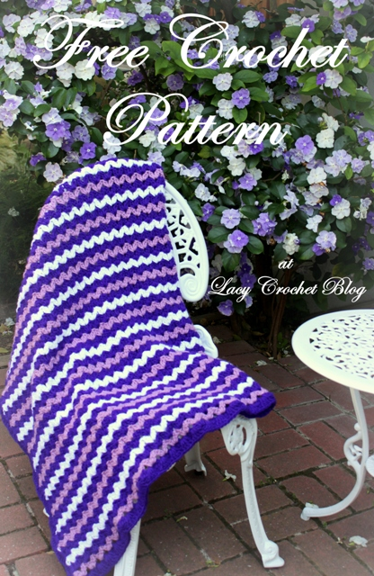 Crochet Patterns For A Throw : Lacy Crochet: Brunfelsia Inspired Crochet Throw, My Free ...