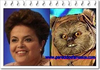 Dilma Rousseff con Ewok