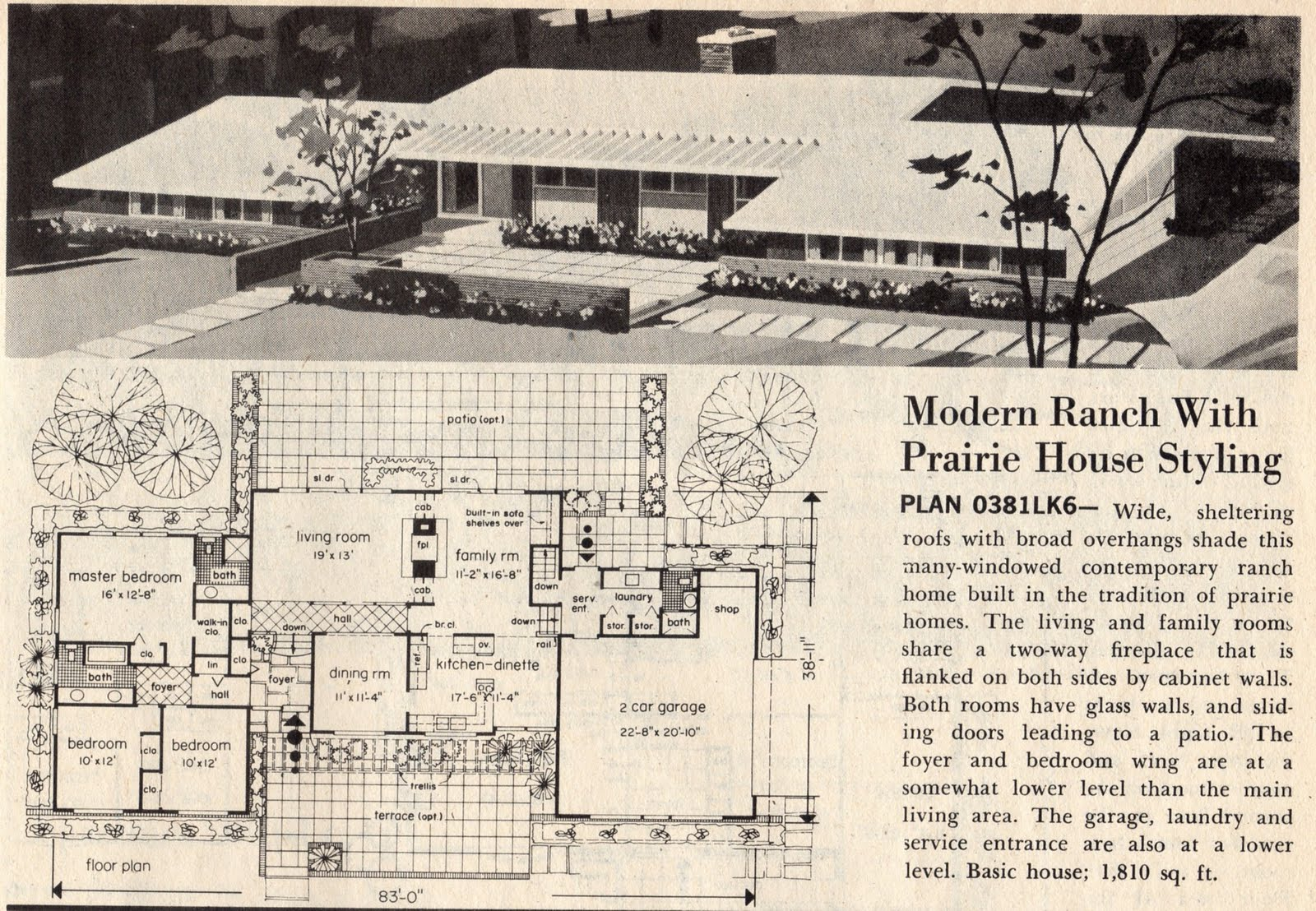 Mad for mid century june 2011 for Mid century modern ranch style house plans