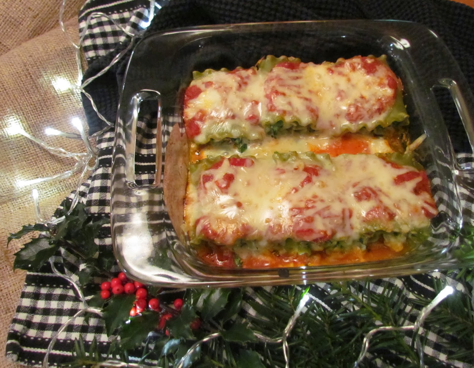 ... & Roses: Lasagna Rolls with Turkey, Sun Dried Tomatoes and Spinach