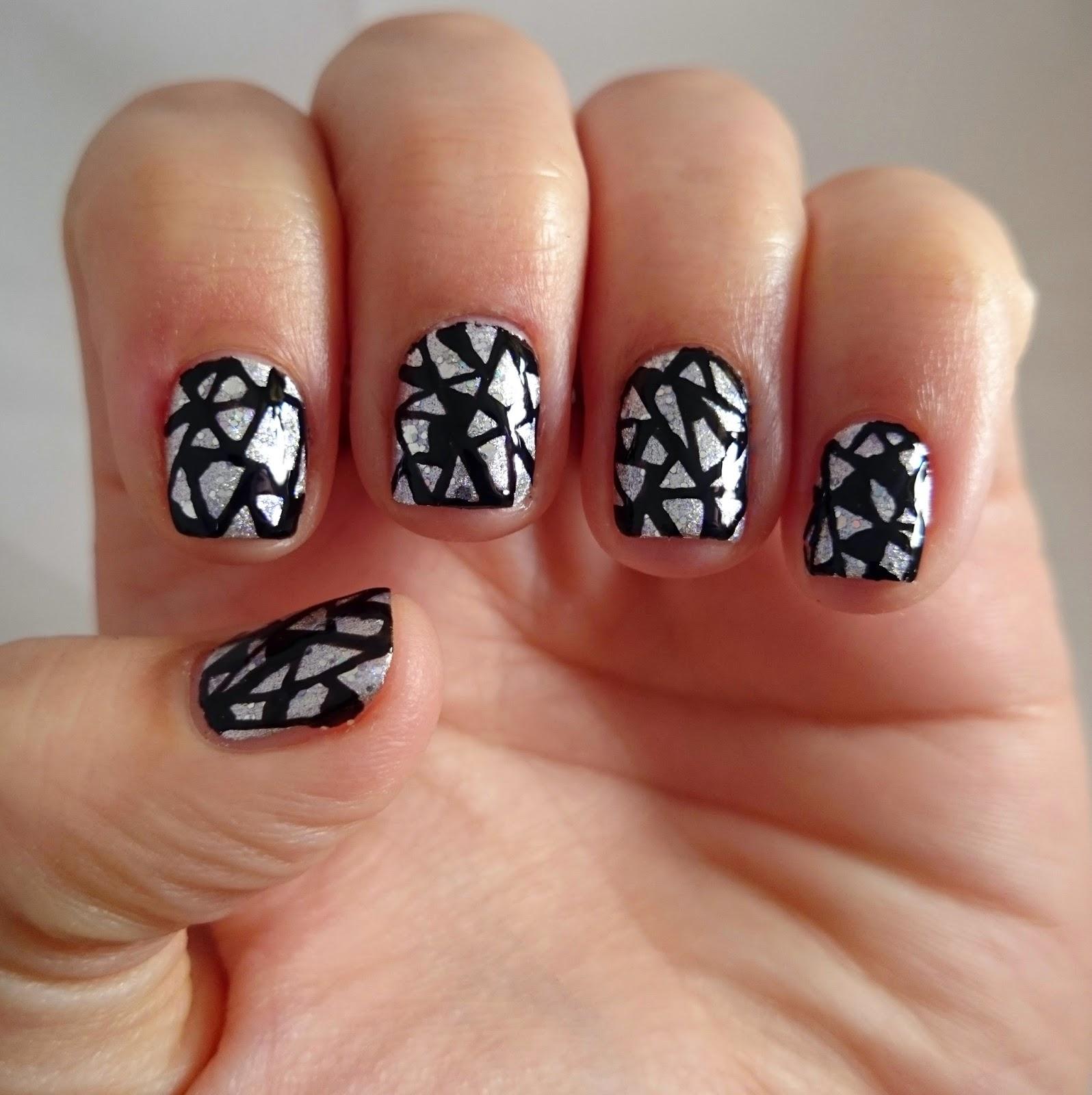 Dahlia Nails: Shards of Glass