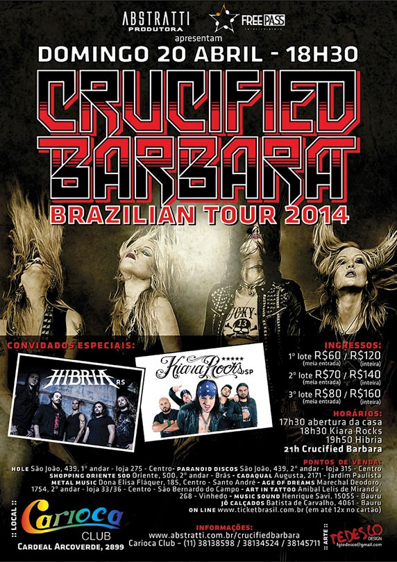 Crucified Barbara Brazil tour 2014