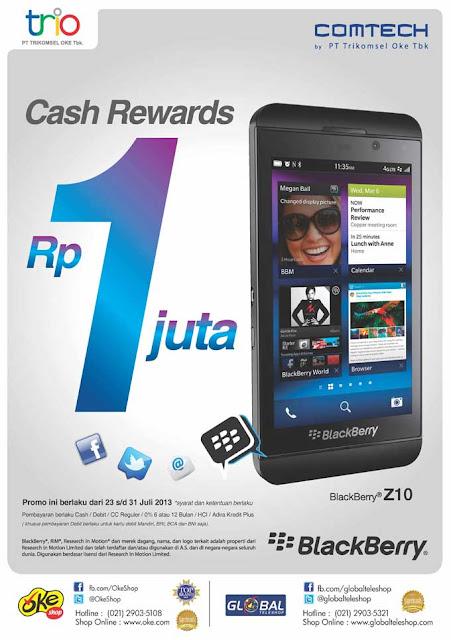 Promo BlackBerry dari OkeShop dan Global Teleshop Cashback Rp1.000.000