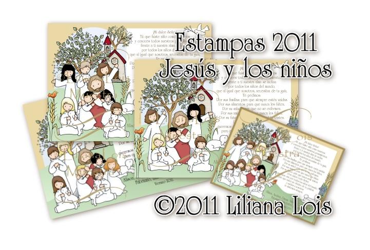 Liliana Lois Diseños: Nuestra Primera Comunion Jesus y los niños