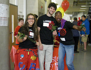 Genna, Josh & Javaun volunteering at May@Mac Open House