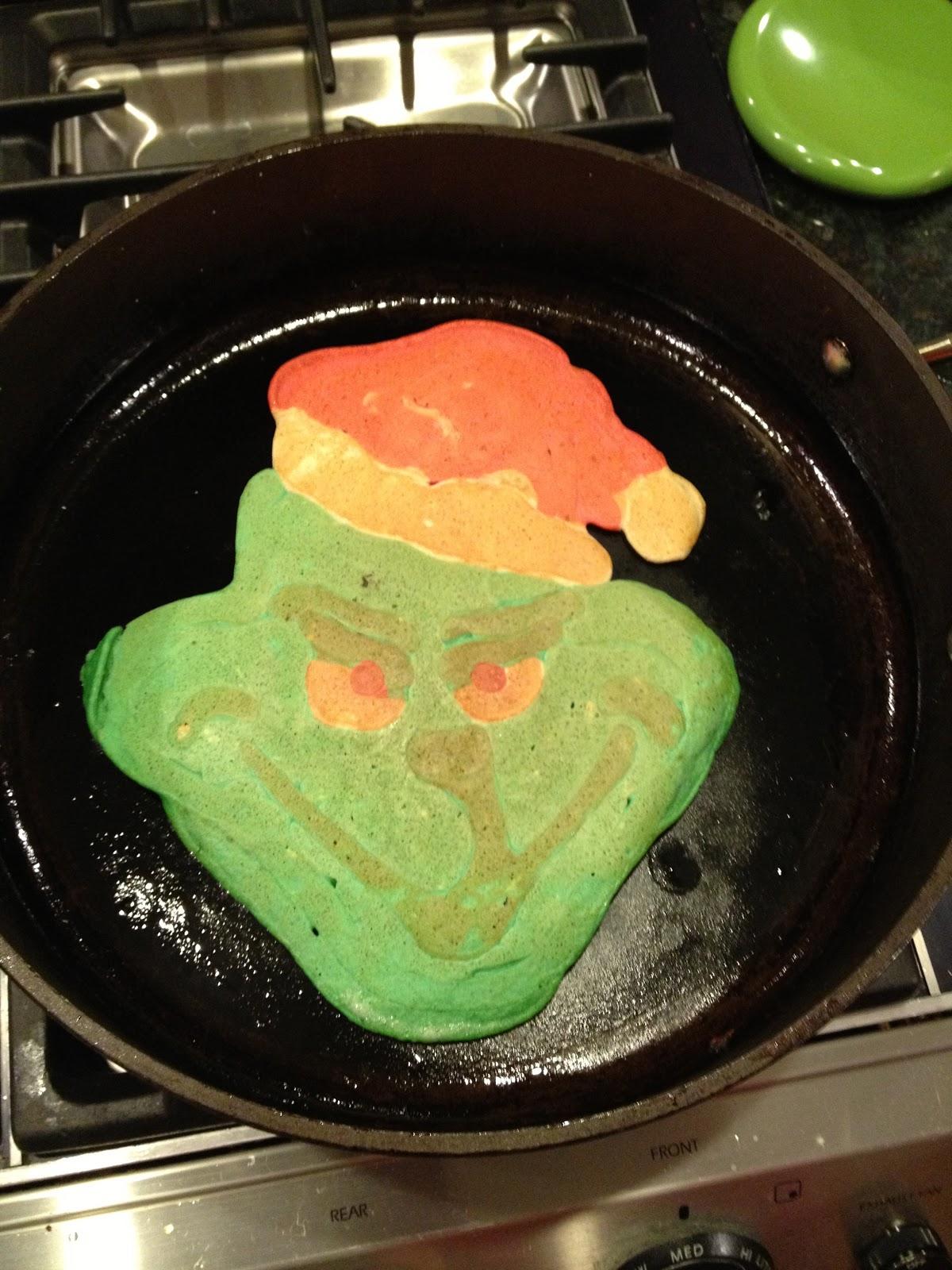Wondertoast Making Food Super Fun Grinch Pancakes