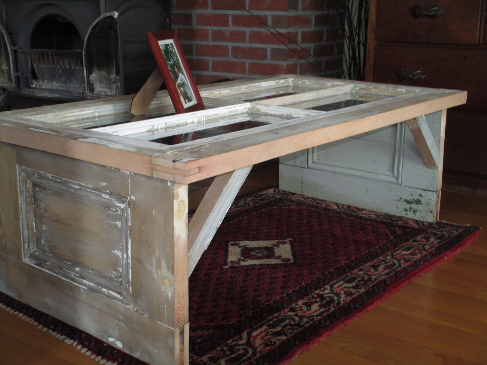Long Pond Endeavor Company Reclaimed Door Coffee Table