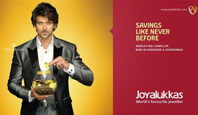 Hrithik Roshan For Joy Alukkas print ad