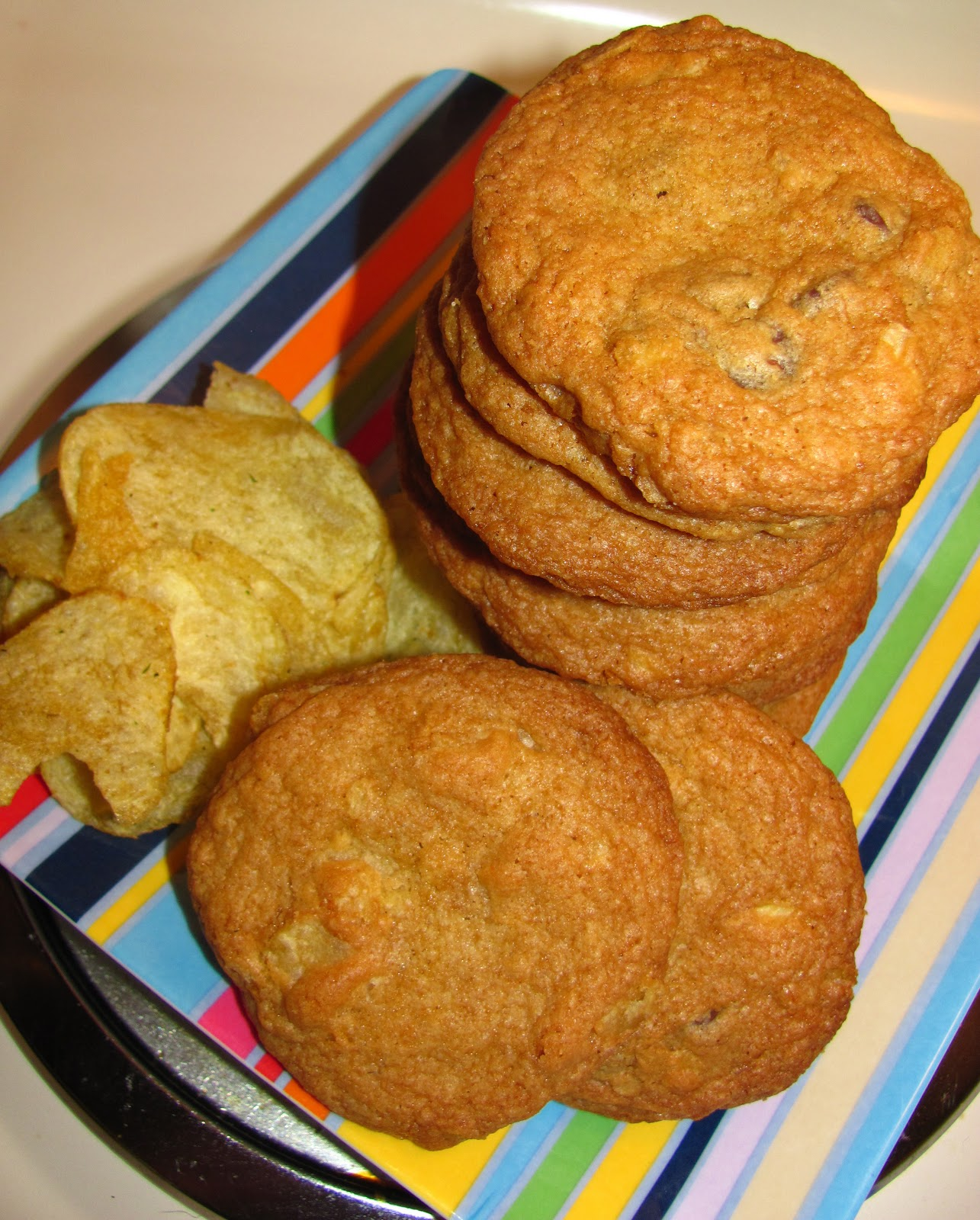 For the love of food chocolate potato chip cookies