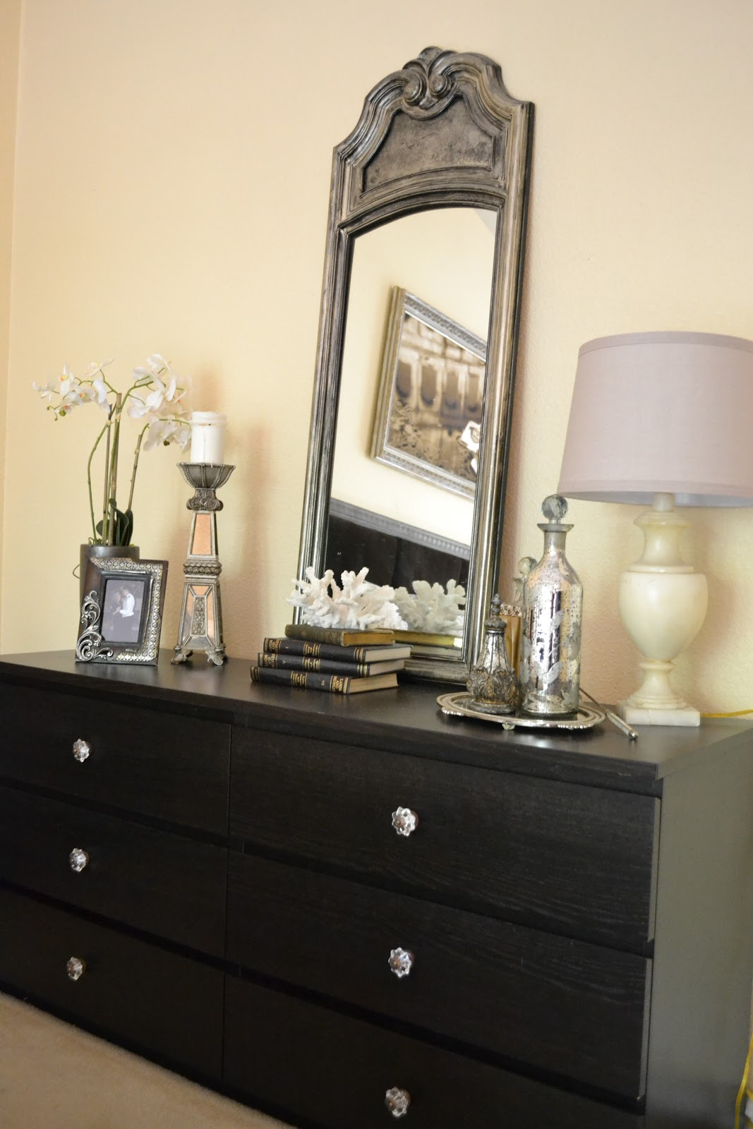 The poor sophisticate how to fancy up ikea furniture for Bedroom dresser decor