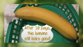 wrap the banana stem to stop it from ripening so fast
