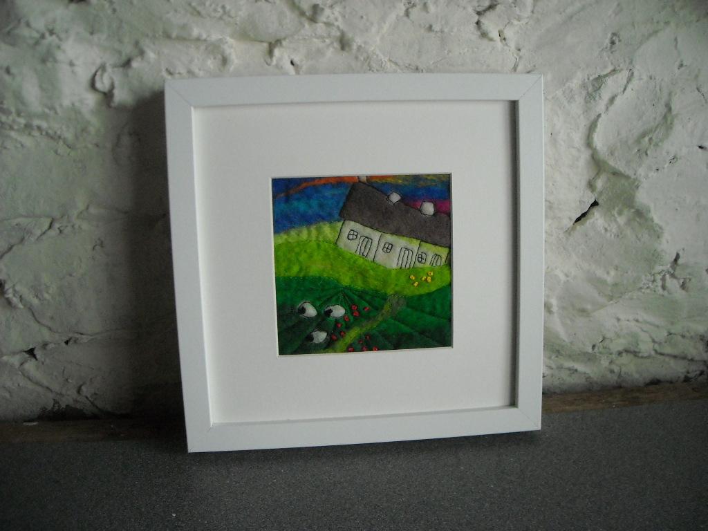 sue forey fibre art: Framed felt art