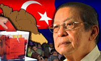 pemimpin parlimen DAP Lim Kit Siang sebagai calon Pakatan Rakyat untuk kerusi parlimen Gelang Patah.