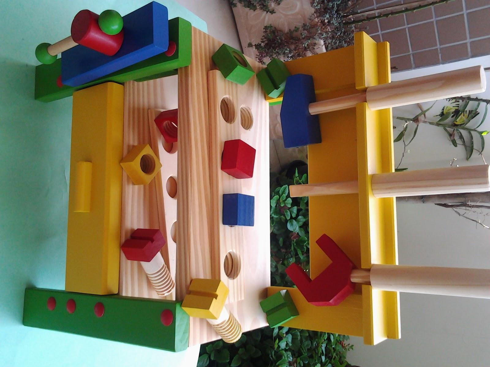 Brinquedo Azul: Bancada Para Ferramentas em Madeira #AC7D1F 1600x1200