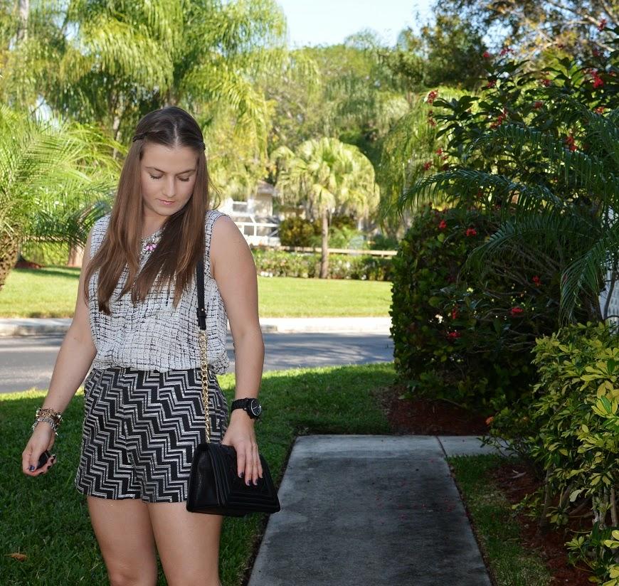 Black & white - shorts - sleeveless top