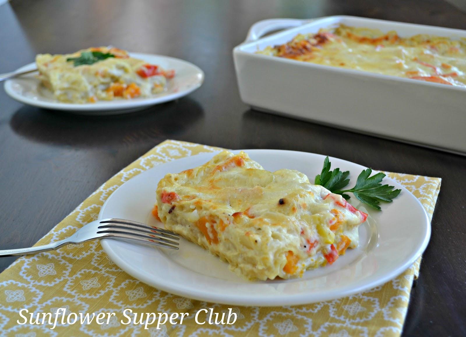 Sunflower Supper Club: Roasted Vegetable Lasagna