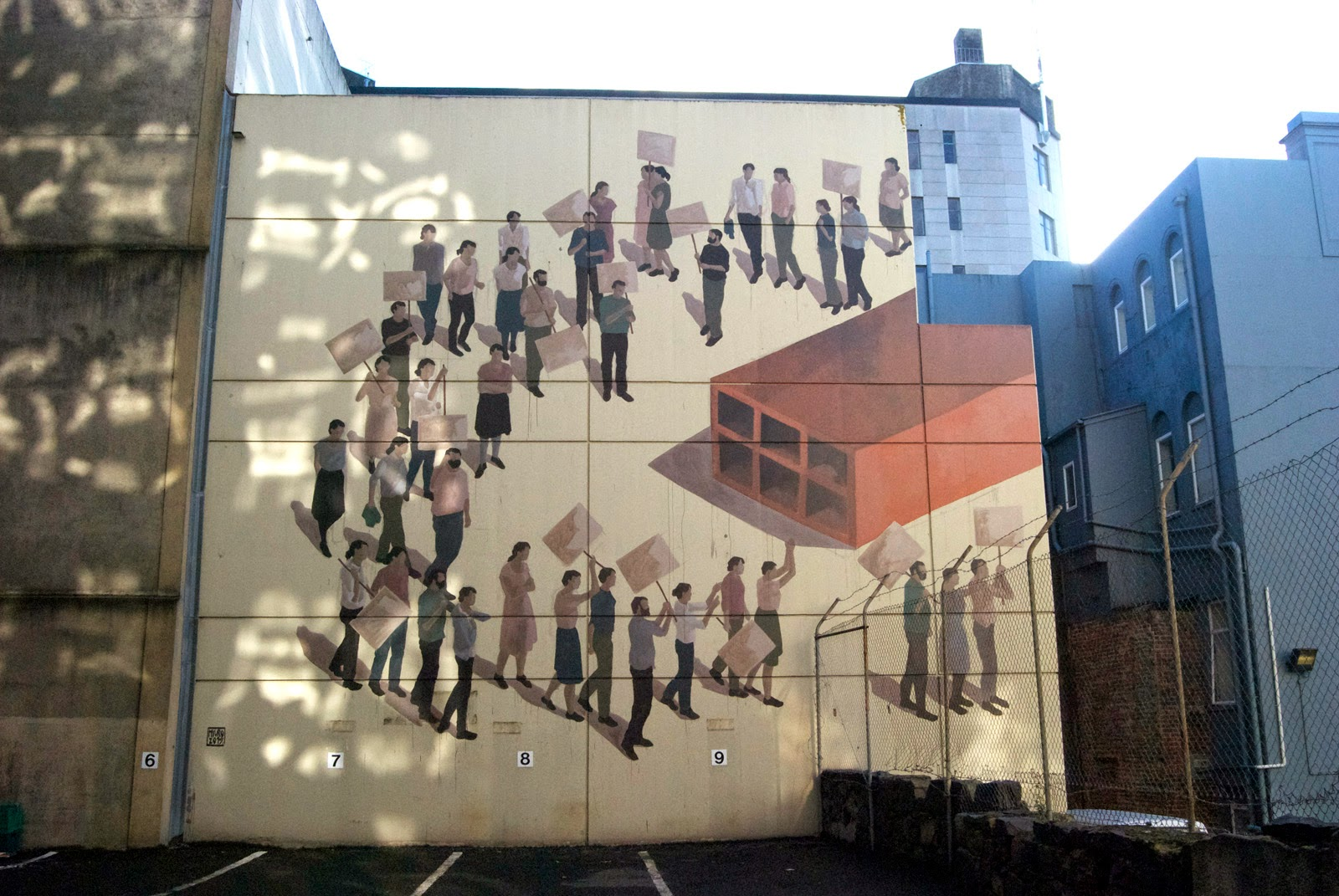 Our friend Hyuro is currently in New Zealand where she spent the last few days working on new artworks somewhere on the streets of Dunedin for the excellent Dunedin Street Art Project.