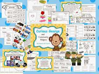 http://www.teacherspayteachers.com/Product/Curious-George-and-Community-Helpers-959580