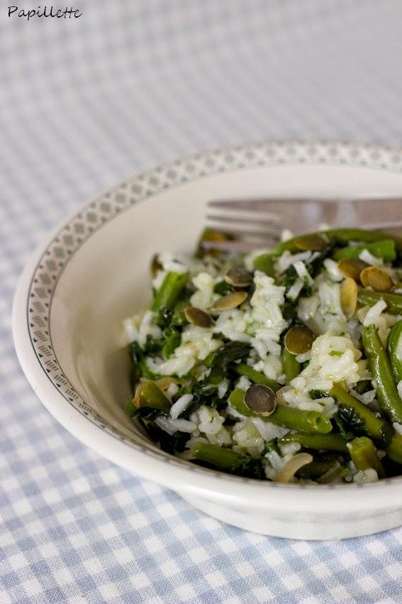 riz sauté aux légumes verts