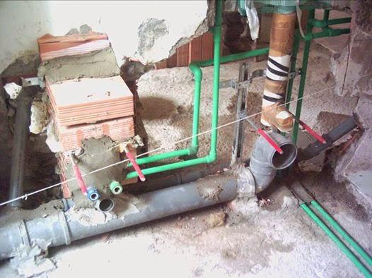 Il Blog dell'idraulico: Tubo polipropilene verde a saldare Bagno sospeso