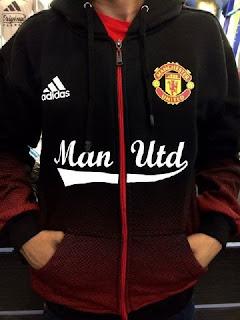 gambar detail jaket terbaru musim depan Jaket hoodie Manchester United warna hitam merah terbaru 2015/2016 di enkosa sport kualitas grade ori