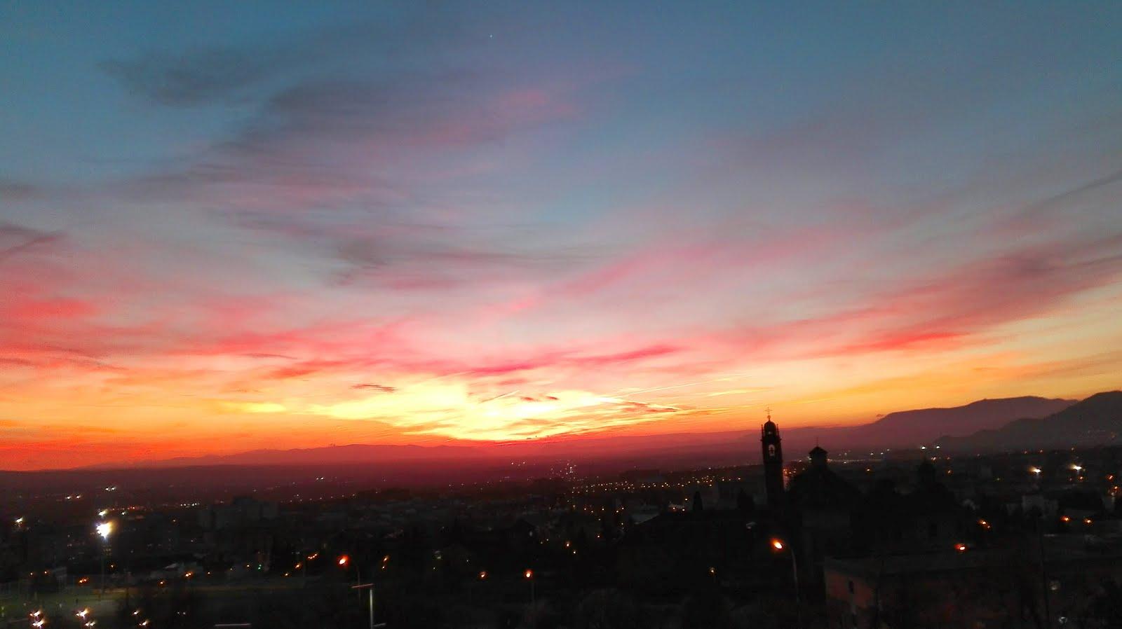 Soñé cada noche con tu cielo pintado de colores