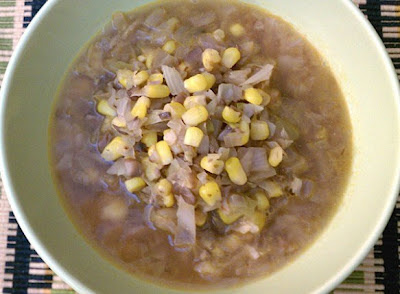 Slow Cooker Asian Corn Cabbage Vegan Soup