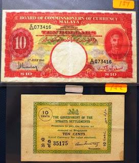 Straits Settlements 10 Cents 08-08-1919