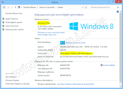 Windows 8 Sistem